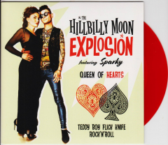 Hillbilly Moon Explosion feat. Sparky - Queen of Hearts (EP) 7inch red Vinyl