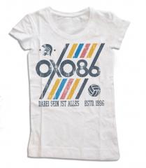 Oxo 86 - Dabei sein ist Alles Girlie-Shirt (offwhite) Fair Trade 100% Baumwolle