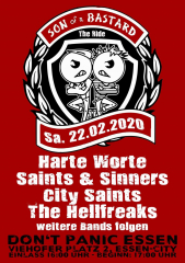 Son of a Bastard the Ride 2020 (Ticket) Harte Worte, Saints & Sinners, City Saints, Hellfreaks...