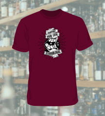 Dont Panic - Support your local Stammlokal T-Shirt (bordeaux) * Soli-Aktion