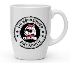 Don´t Panic Kaffee-Pot - Ein Wohnzimmer - Eine Familie (Tasse mit Henkel) Keramik