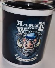Harte Worte - Kaffee-Pot (Tasse mit Henkel) Keramik