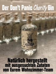 Der Don´t Panic Charity GIN (Bottle) limited Edition zum Club Support
