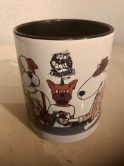 Dont Panic - Who let the Dogs out Kaffee-Pott (Tasse mit Henkel) Keramik