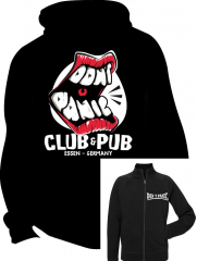 Dont Panic Club Logo - Zipper-Jacke (black) mit Front-Brustlogo