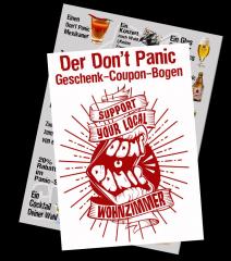 Don´t Panic Geschenk-Coupon Bogen - 12 Coupons im Wert von ca 50 Euro