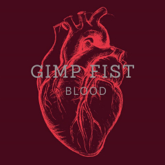 Gimp Fist - Blood (LP) limited 250 copies white-bursted Steel Vinyl