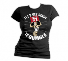 Gumbles -Ready to Gumble - Girly Shirt (black)