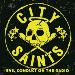City Saints - Evil Conduct on the Radio (EP) transyellow/black marbled 7inch Vinyl 150 copies