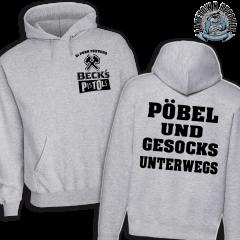 Becks´s Pistols - Pöbel & Gesocks unterwegs Hoodie (grey)