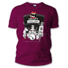 Dont Panic Club Dogs Logo GIRLIE Shirt (bordeaux) For my family for my friends
