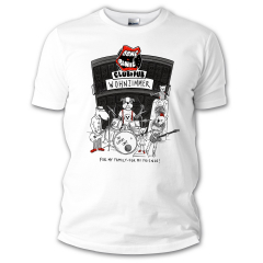 Dont Panic Club Dogs Logo GIRLIE Shirt (white) For my family for my friends
