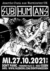 Subhumans - Live! (Ticket) 27.10.2021 Dont Panic Essen