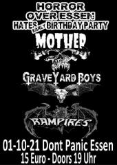 Horror over Essen - Graveyard Boys, Rampires, Mother (Ticket) 01.10.2021 Dont Panic Essen