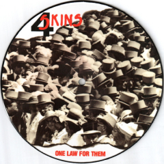 4Skins - One Law For Them (EP) Deluxe Picture Disc limited