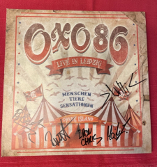 Oxo86 - Live in Leipzig (DVD+2LP) blue/yellow Vinyl, Autogramm-Charity-Collection (2 copies)
