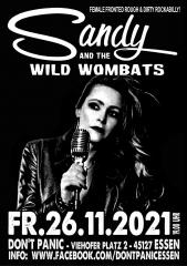 Sandy & the wild Wombats - - Live! (Ticket) 26.11.2021 Dont Panic Essen