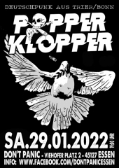 Popperklopper - Live! (Ticket) 29.01.2022 Dont Panic Essen