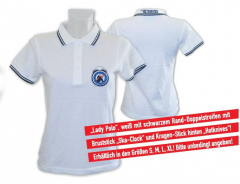 Hotknives, the - Lady-Polo (white) bestickt