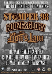 Stomper 98, Booze & Glory Lion´s Law - Tour2014 (Poster)