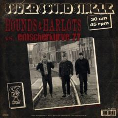 Hounds & Harlots / Emscherkurve77 Split (LP) black Vinyl, Super Sound Single#1 12inch/45RPM