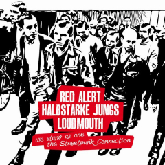 split Red Alert / Halbstarke Jungs / Loudmouth (LP) Cover No.2 limited 100