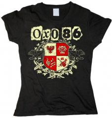 Oxo 86 - Wappen Bandlogo - Girlie Shirt (black)