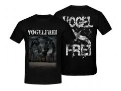 Vogelfrei - Der Dämmerung entgegen T-Shirt (black)