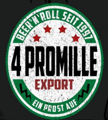 4 Promille - Beer n Roll (Patch) gestickt